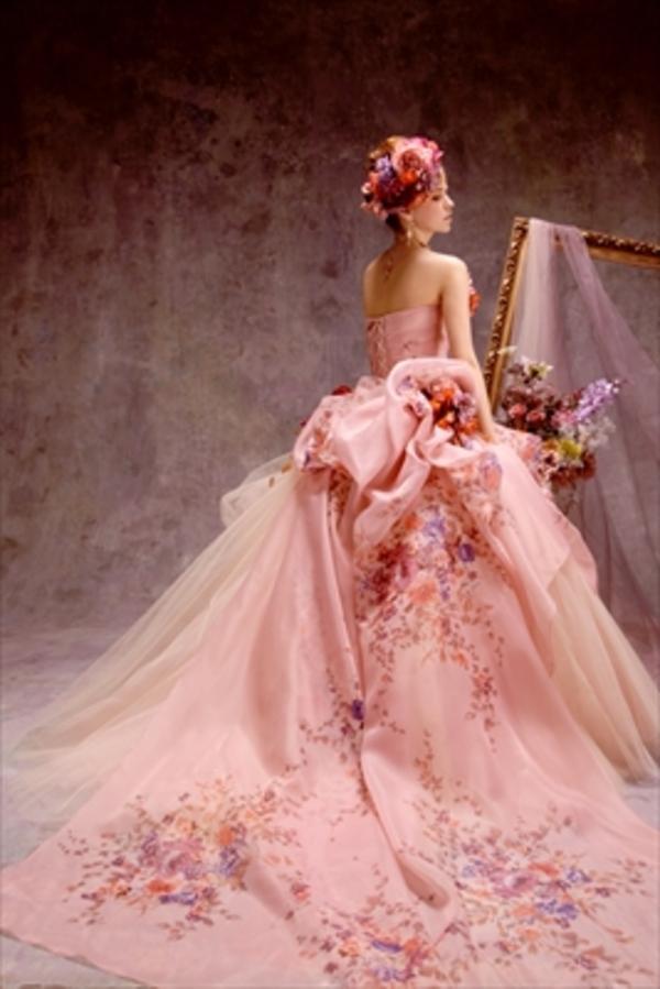 お花柄ドレス