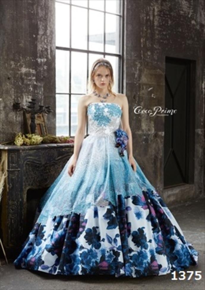 花柄ブルードレスのサムネイル
