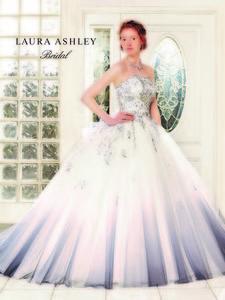 【LAURA ASHLEY】グレーウエディングドレス