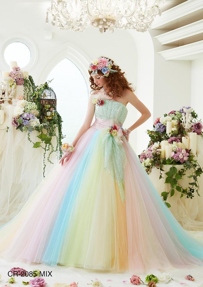 【レインボー】カラードレスのサムネイル
