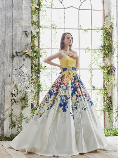 【HARDY AMIES】カラードレス
